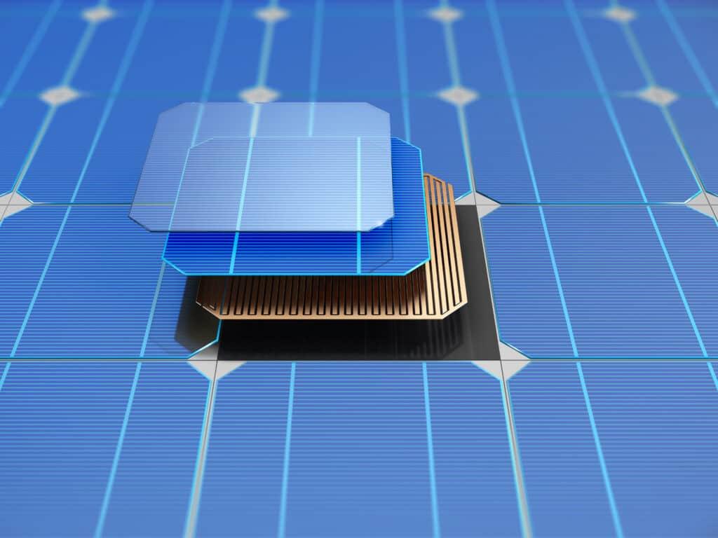 Schematische Abbildung einer PERC-Solarzelle